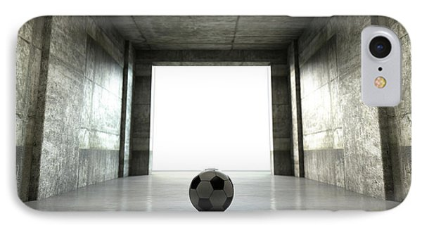 Soccer Ball Sports Stadium Tunnel IPhone Case by Allan Swart