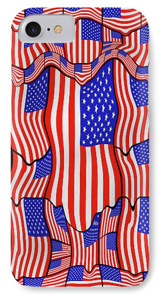 Soft American Flags  IPhone Case by Mike McGlothlen