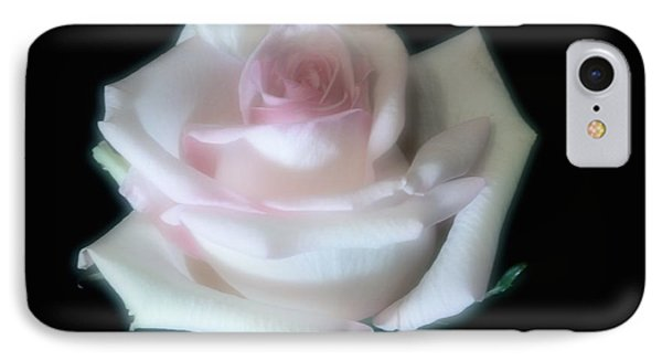 Soft Pink Rose Bud IPhone Case