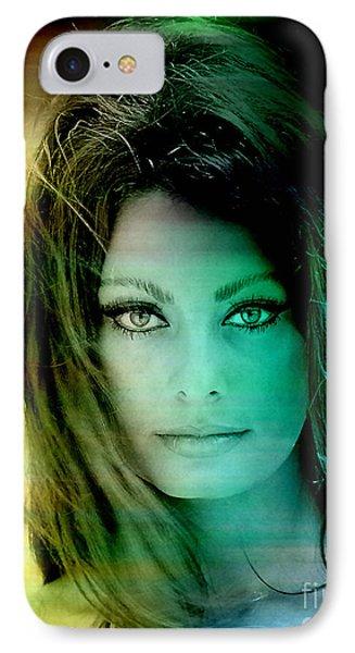 Sophia Loren IPhone Case by Marvin Blaine