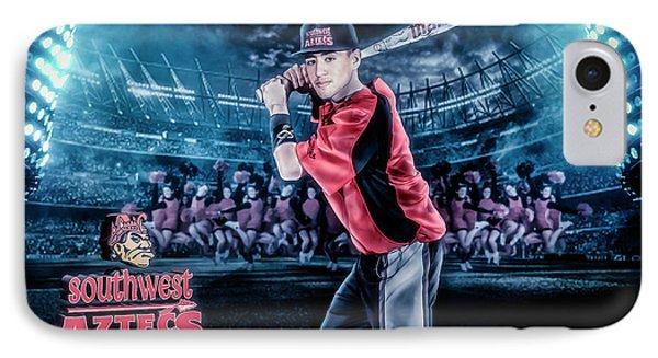 Southwest Aztecs Baseball Organization IPhone Case by Nicholas Grunas