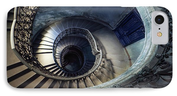 Spiral Staircase With Ornamented Handrail IPhone Case by Jaroslaw Blaminsky