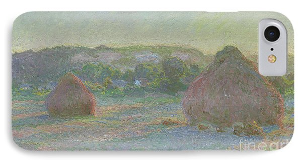 Stacks Of Wheat, End Of Summer IPhone Case by Claude Monet