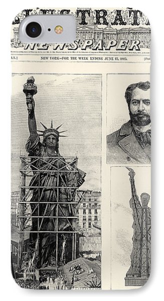 Statue Of Liberty, 1885 IPhone Case by Granger