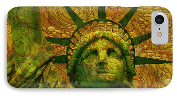 Statue Of Liberty IPhone Case by Jack Zulli