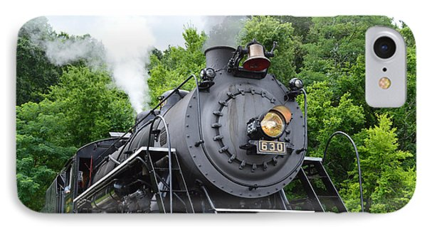 Steam Engline Number 630 IPhone Case by Linda Geiger