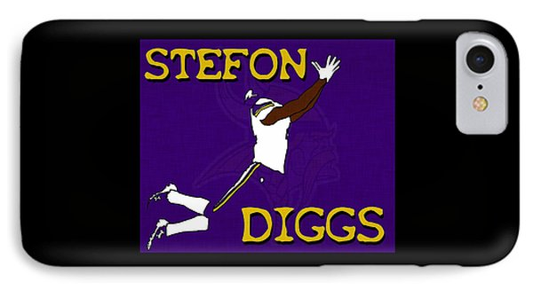 Stefon Diggs IPhone Case by Kyle West