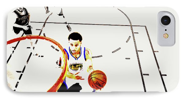 Stephen Curry In Flight IPhone Case