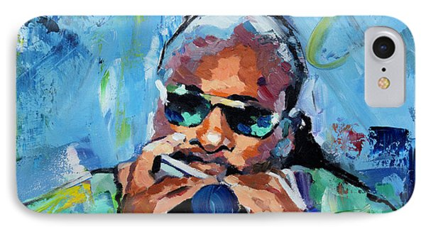IPhone Case featuring the painting Stevie Wonder by Richard Day