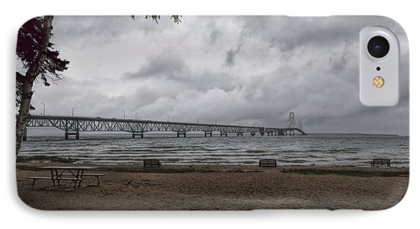 IPhone Case featuring the photograph Straits Of Mackinac by John M Bailey