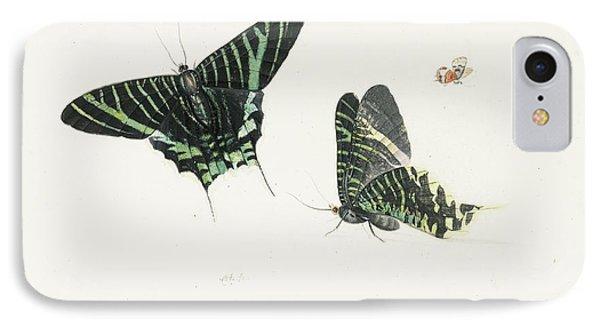 Studies Of Two Butterflies IPhone 7 Case by Anton Henstenburgh
