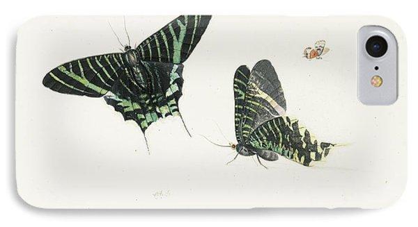 Studies Of Two Butterflies IPhone Case by Anton Henstenburgh
