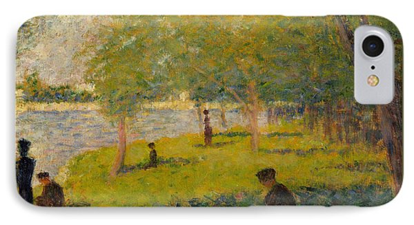 Study For Sunday Afternoon On The Island Of La Grand Jatte IPhone Case by Georges Pierre Seurat