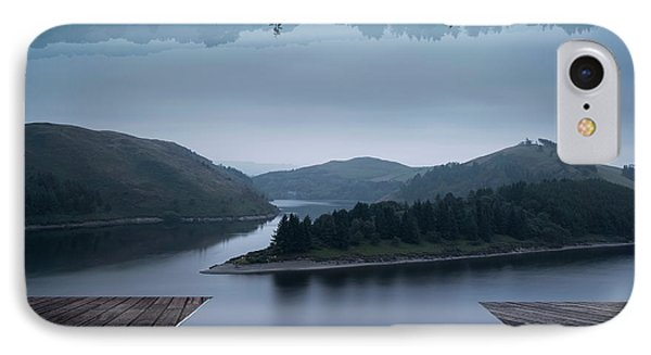 Stunning Impossible Puzzling Conceptual Landscape Image Of Lake  IPhone Case