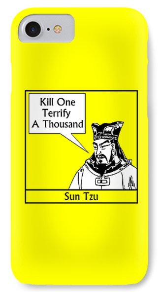 Sun Tzu Phone Case by War Is Hell Store