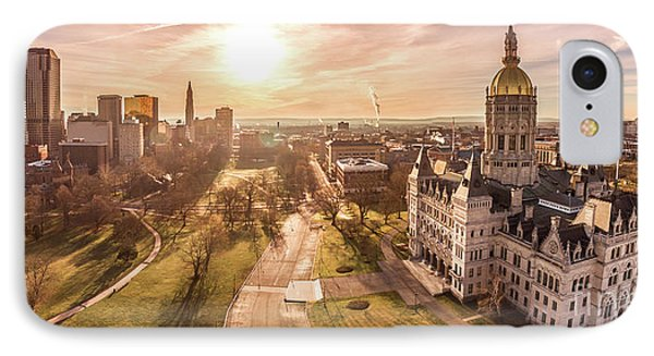 IPhone Case featuring the photograph Sunrise In Hartford Connecticut by Petr Hejl