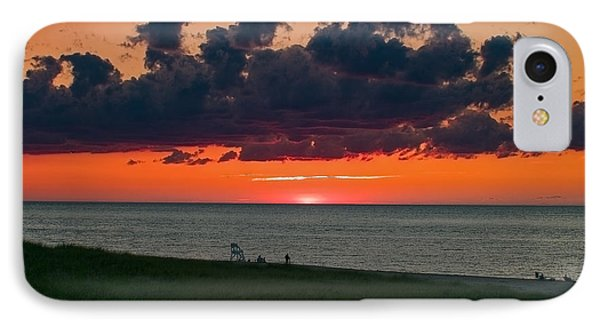 Sunset On Racepoint Beach IPhone Case by Jeff Folger