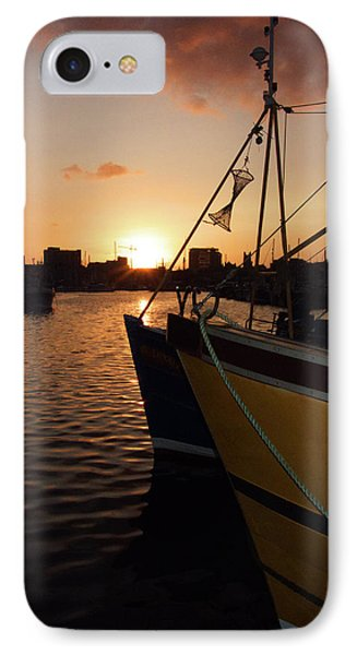 Sunset Over Sutton Harbour Plymouth Phone Case by Chris Day