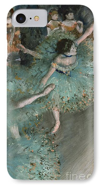 Swaying Dancer  Dancer In Green IPhone Case by Edgar Degas