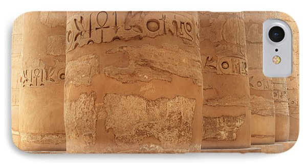 IPhone Case featuring the photograph Temple Of Karnak by Silvia Bruno