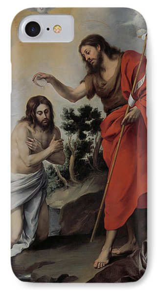 The Baptism Of Christ IPhone Case by Bartolome Esteban Murillo