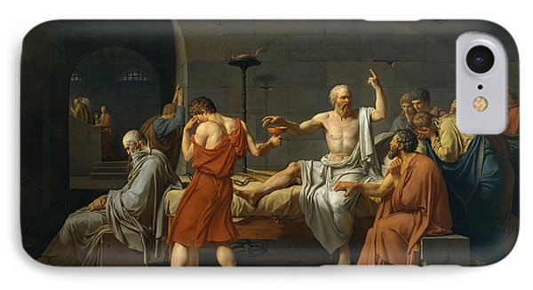 Punishment iPhone 7 Case - The Death Of Socrates by Jacques Louis David