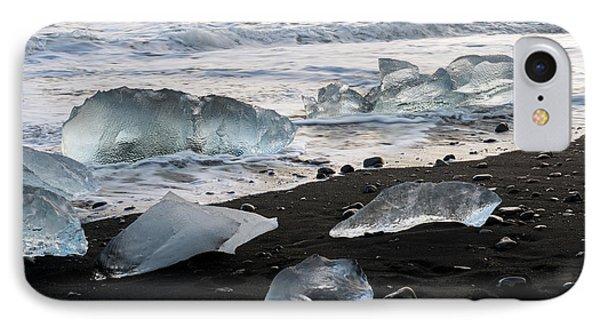 IPhone Case featuring the photograph The Diamond Beach, Jokulsarlon, Iceland by Dubi Roman