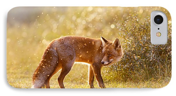 The Fox And The Fairy Dust IPhone Case by Roeselien Raimond