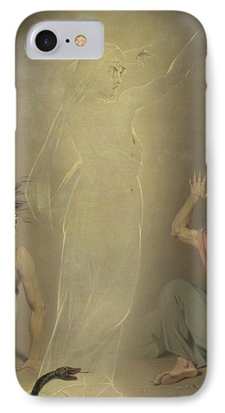The Ghost Of Clytemnestra Awakening The Furies IPhone Case by John Downman