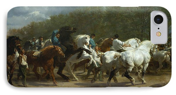 The Horse Fair IPhone Case by MotionAge Designs