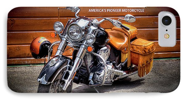 The Indian Motorcycle IPhone Case by David Patterson