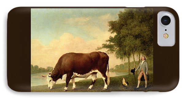 The Lincolnshire Ox IPhone Case by George Stubbs