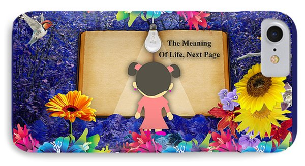 The Meaning Of Life Art Phone Case by Marvin Blaine