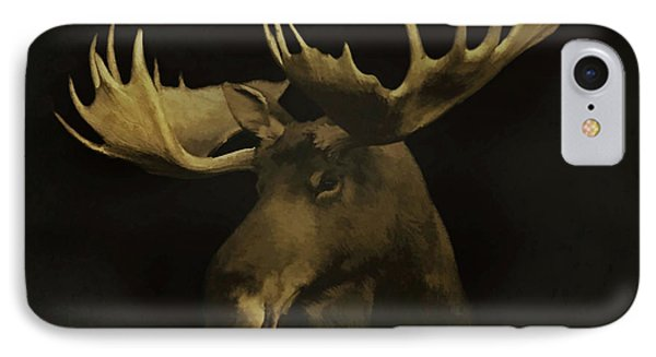 IPhone Case featuring the digital art The Moose by Ernie Echols