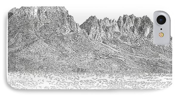 The Organ Mountains IPhone Case by Jack Pumphrey