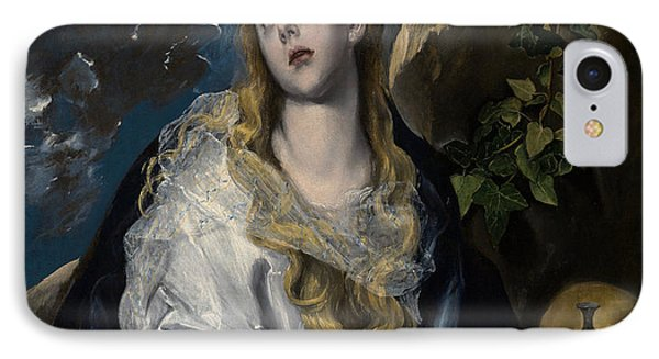 The Penitent Magdalene IPhone Case by El Greco