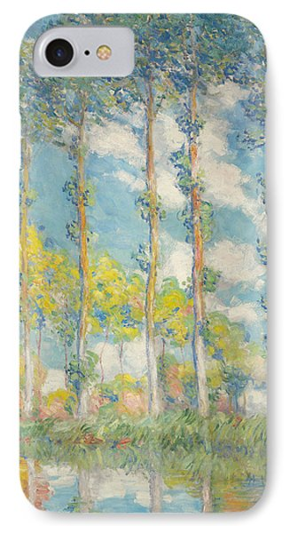 The Poplars IPhone Case by Claude Monet