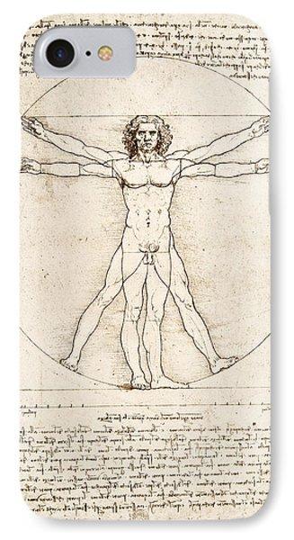 The Proportions Of The Human Figure IPhone 7 Case by Leonardo Da Vinci