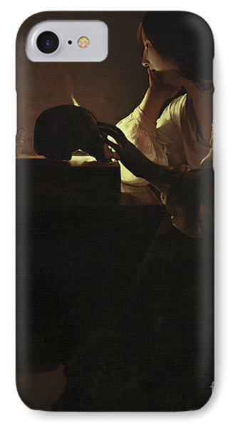 The Repentant Magdalen IPhone Case by Georges de la Tour