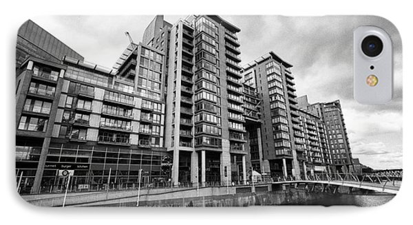 The River Irwell Between Spinningfields And Salford Manchester England Uk Phone Case by Joe Fox