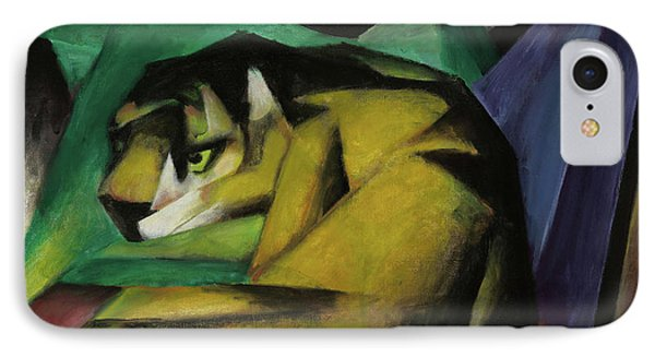 The Tiger  IPhone Case by Franz Marc
