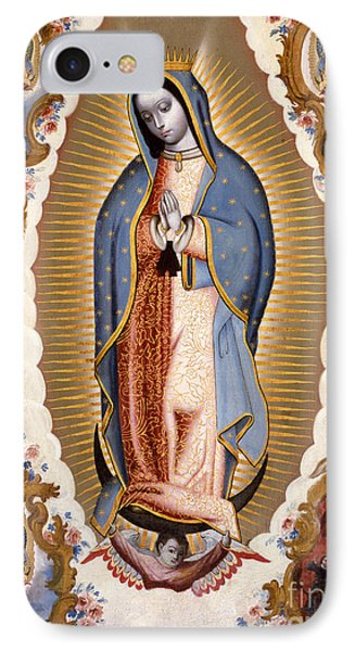 The Virgin Of Guadalupe  IPhone Case by Mexican School