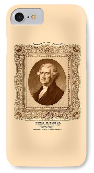 Thomas Jefferson IPhone Case by War Is Hell Store