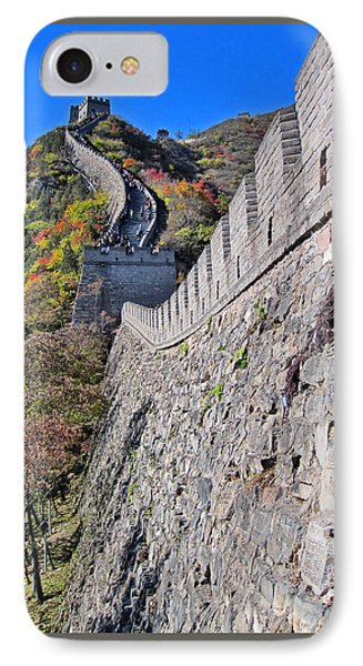 Top View. The Great Wall Of China. IPhone Case