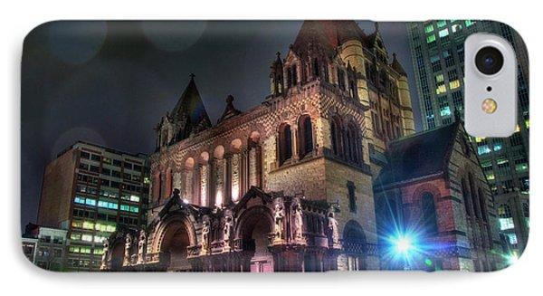 IPhone Case featuring the photograph Trinity Church - Copley Square Boston by Joann Vitali