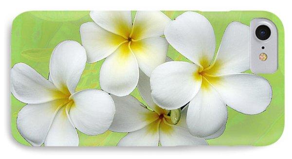 Tropical Frangrapani IPhone Case