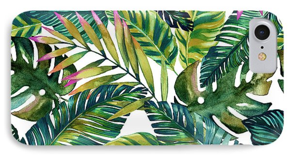 Flowers iPhone 7 Case - Tropical  by Mark Ashkenazi