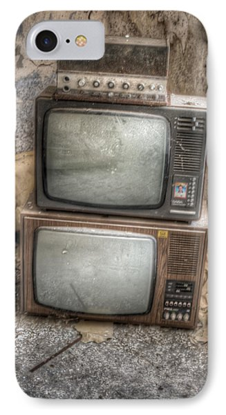 2 Tv's And A Radio IPhone Case by Nathan Wright