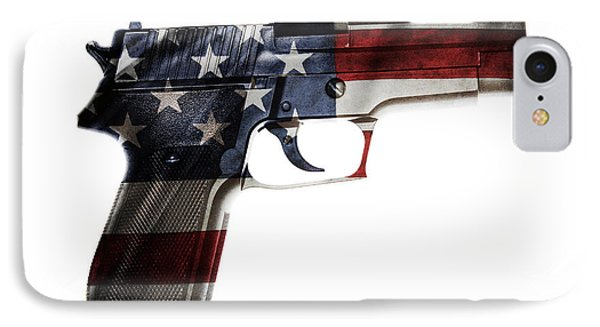 Usa Gun  IPhone Case by Les Cunliffe