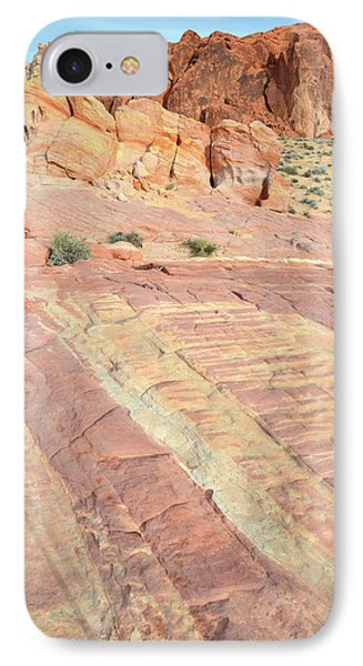 IPhone Case featuring the photograph Valley Of Fire Rainbow by Ray Mathis